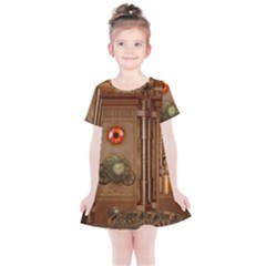 Steampunk Design Kids  Simple Cotton Dress by FantasyWorld7