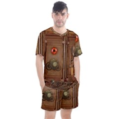 Steampunk Design Men s Mesh Tee And Shorts Set