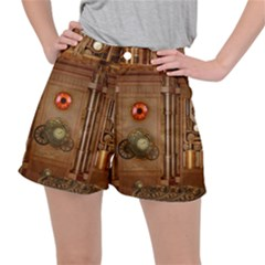 Steampunk Design Ripstop Shorts