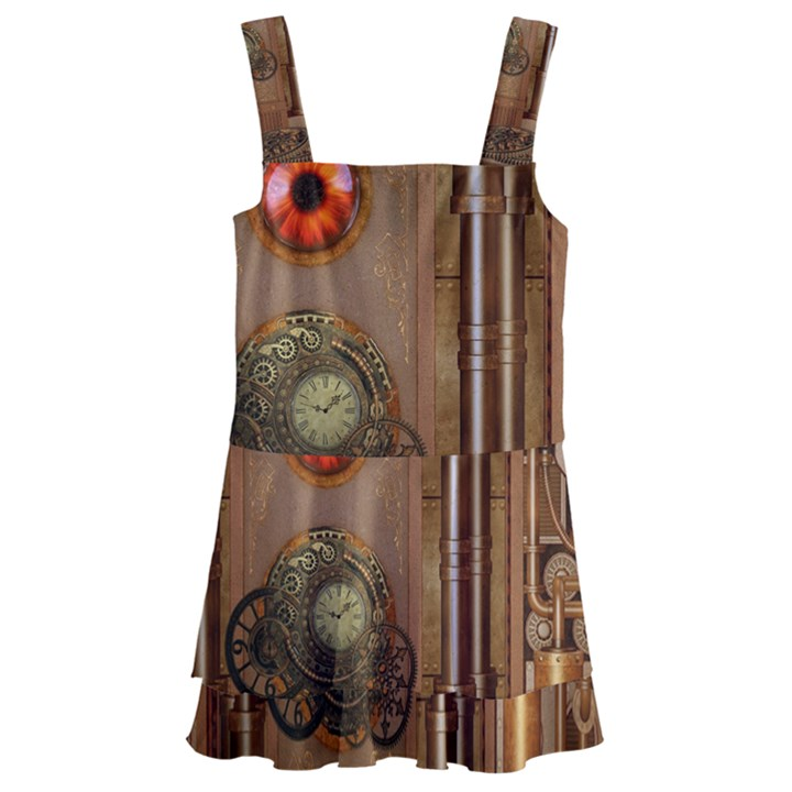 Steampunk Design Kids  Layered Skirt Swimsuit