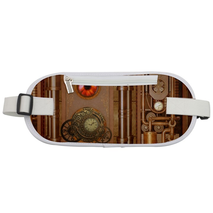 Steampunk Design Rounded Waist Pouch