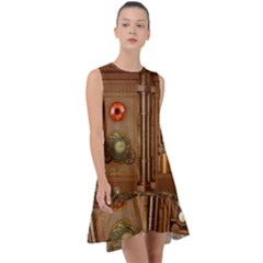 Steampunk Design Frill Swing Dress