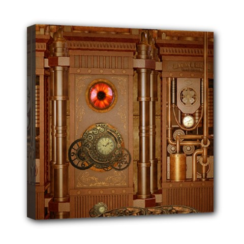 Steampunk Design Mini Canvas 8  X 8  (stretched) by FantasyWorld7