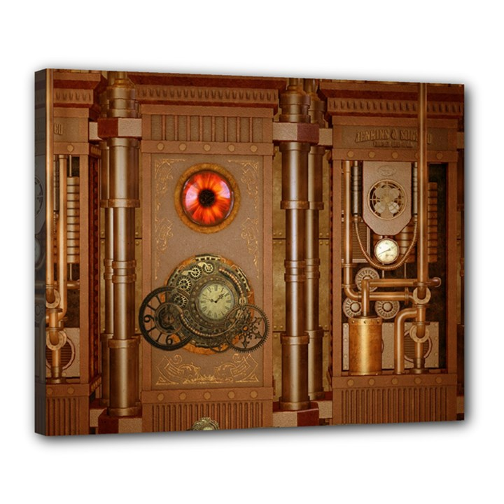 Steampunk Design Canvas 20  x 16  (Stretched)