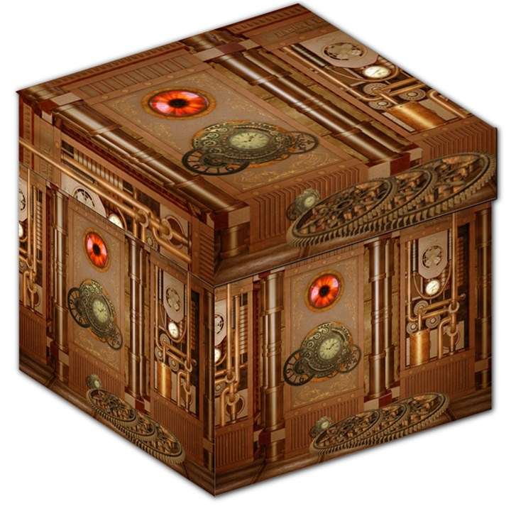 Steampunk Design Storage Stool 12