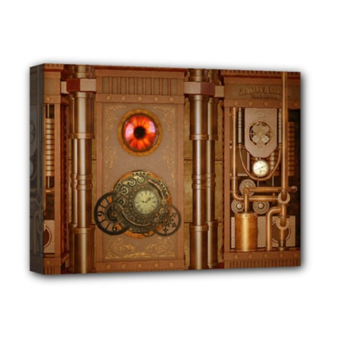 Steampunk Design Deluxe Canvas 16  X 12  (stretched)  by FantasyWorld7