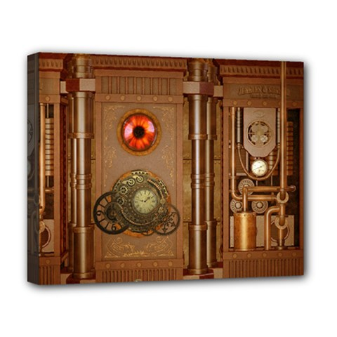 Steampunk Design Deluxe Canvas 20  X 16  (stretched)