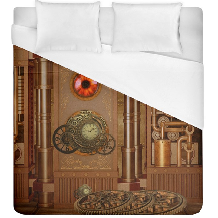 Steampunk Design Duvet Cover (King Size)