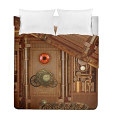 Steampunk Design Duvet Cover Double Side (full/ Double Size)