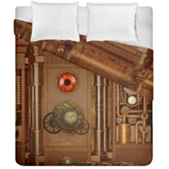 Steampunk Design Duvet Cover Double Side (california King Size)