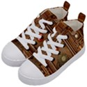 Steampunk Design Kids  Mid-Top Canvas Sneakers View2
