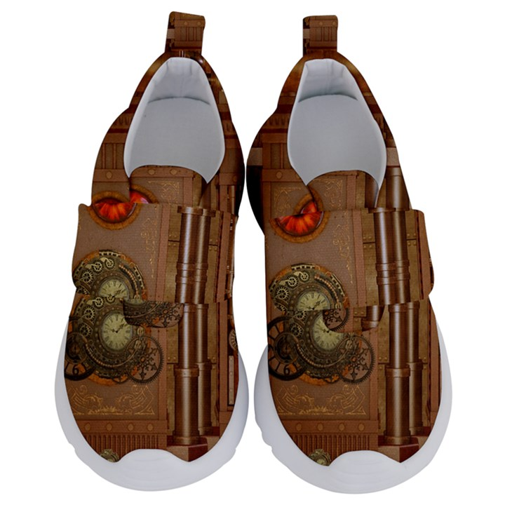 Steampunk Design Kids  Velcro No Lace Shoes