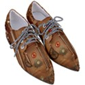 Steampunk Design Women s Pointed Oxford Shoes View3