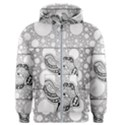Elegant Mandala Elephant In Black And Wihte Men s Zipper Hoodie View1