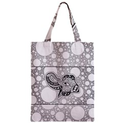 Elegant Mandala Elephant In Black And Wihte Zipper Classic Tote Bag