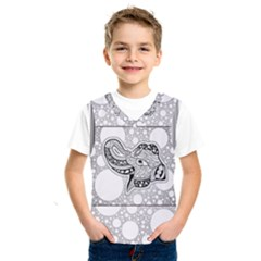 Elegant Mandala Elephant In Black And Wihte Kids  Sportswear by FantasyWorld7