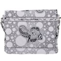 Elegant Mandala Elephant In Black And Wihte Buckle Messenger Bag View3