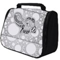 Elegant Mandala Elephant In Black And Wihte Full Print Travel Pouch (Big) View1