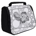 Elegant Mandala Elephant In Black And Wihte Full Print Travel Pouch (Big) View2