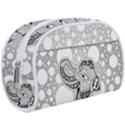 Elegant Mandala Elephant In Black And Wihte Makeup Case (Large) View1