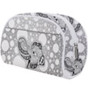 Elegant Mandala Elephant In Black And Wihte Makeup Case (Large) View2