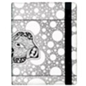 Elegant Mandala Elephant In Black And Wihte Samsung Galaxy Tab 10.1  P7500 Flip Case View3