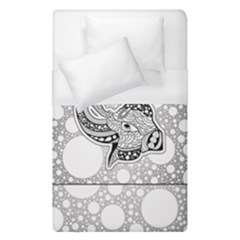 Elegant Mandala Elephant In Black And Wihte Duvet Cover (single Size)