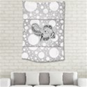 Elegant Mandala Elephant In Black And Wihte Small Tapestry View2