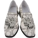 Elegant Mandala Elephant In Black And Wihte Women s Chunky Heel Loafers View1