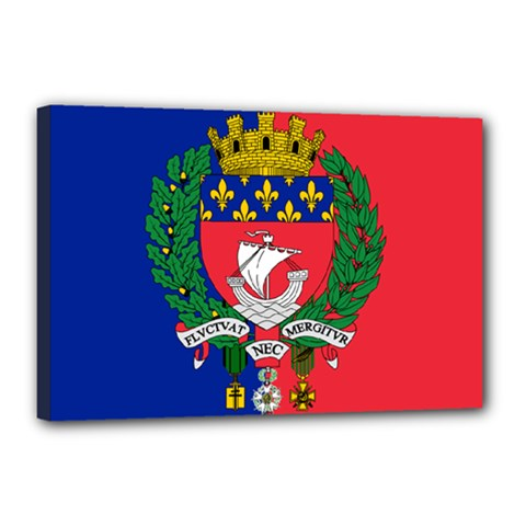 Flag Of Paris  Canvas 18  X 12  (stretched) by abbeyz71