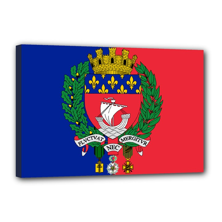 Flag of Paris  Canvas 18  x 12  (Stretched)