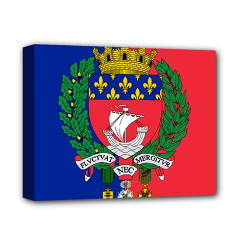 Flag of Paris  Deluxe Canvas 14  x 11  (Stretched)