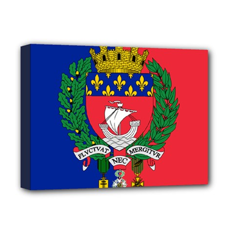 Flag of Paris  Deluxe Canvas 16  x 12  (Stretched)