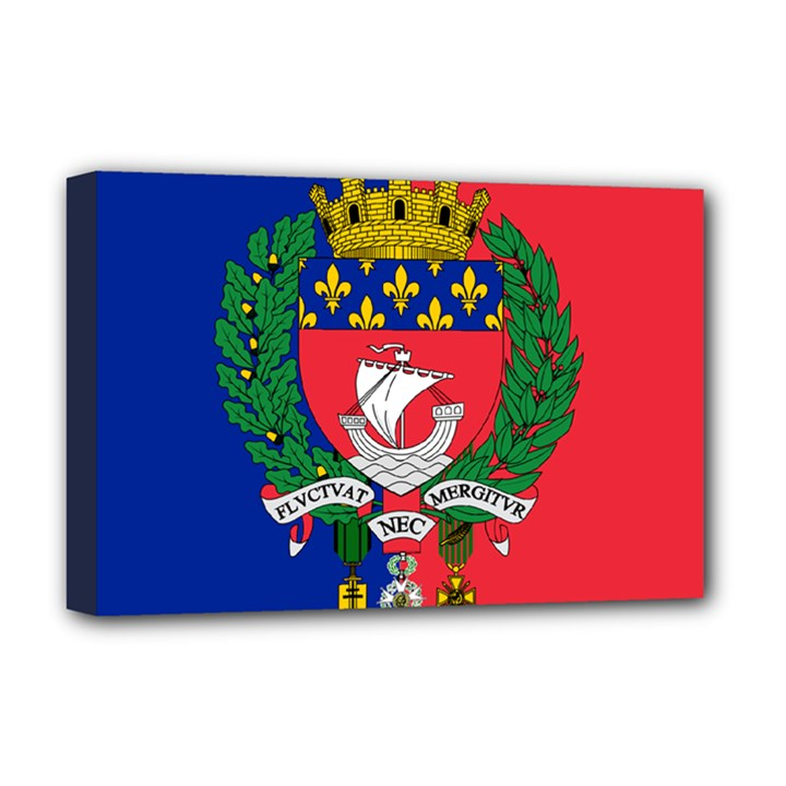 Flag of Paris  Deluxe Canvas 18  x 12  (Stretched)