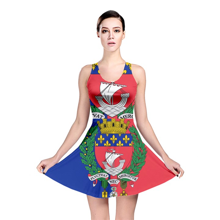 Flag of Paris  Reversible Skater Dress