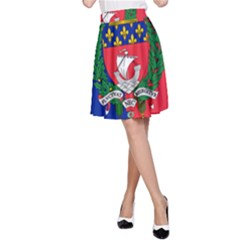 Flag Of Paris  A-line Skirt by abbeyz71