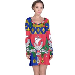 Flag Of Paris  Long Sleeve Nightdress by abbeyz71