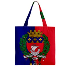 Flag Of Paris  Zipper Grocery Tote Bag by abbeyz71