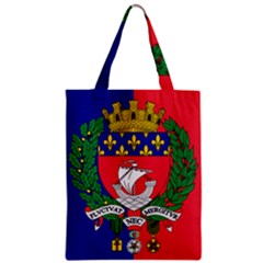 Flag Of Paris  Zipper Classic Tote Bag
