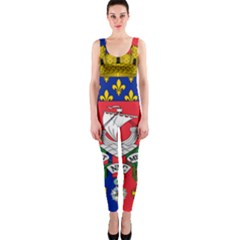 Flag Of Paris  One Piece Catsuit