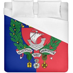 Flag Of Paris  Duvet Cover (king Size) by abbeyz71