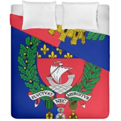 Flag of Paris  Duvet Cover Double Side (California King Size)