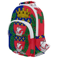 Flag of Paris  Rounded Multi Pocket Backpack