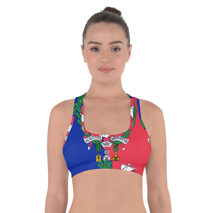 Flag of Paris  Cross Back Sports Bra