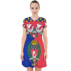 Flag of Paris  Adorable in Chiffon Dress