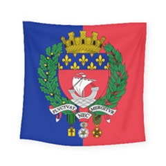 Flag of Paris  Square Tapestry (Small)