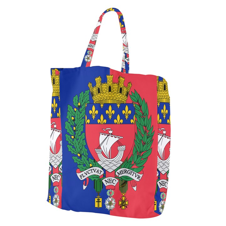 Flag of Paris  Giant Grocery Tote