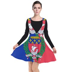 Flag Of Paris  Plunge Pinafore Dress
