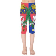 Flag Of Paris  Kids  Capri Leggings