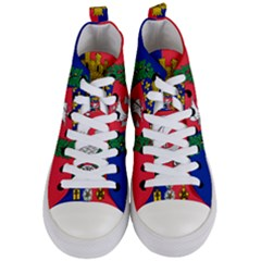 Flag Of Paris  Women s Mid Top Canvas Sneakers